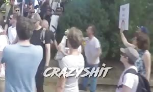 Antifa supporter gets punched