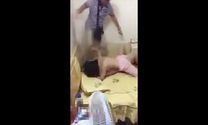 Dad attacks his girlfriend's boyfriend for sleeping with her