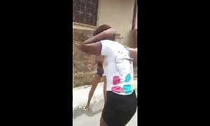 Bunch of girls abusing a mentally ill black girl