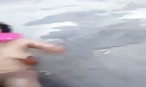 Slut nearly lynched in public