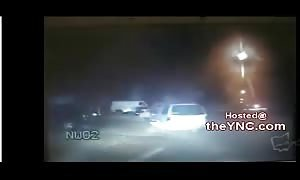 Police chase ends with a violent shooting of the suspect