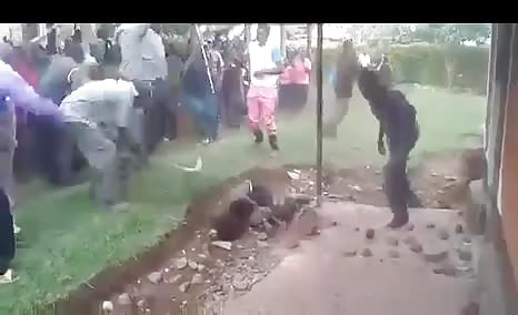 Thief stoned to death