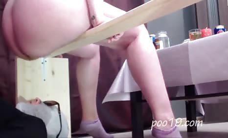 Skinny girl feeding her boyfriend