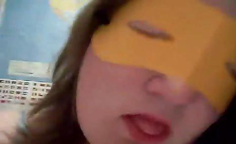 masked bbw babe eating her own shit