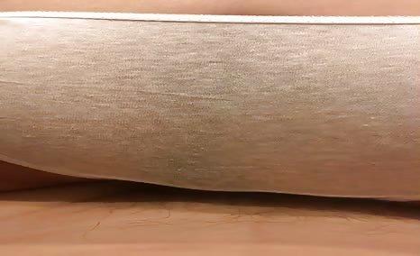 Shitting in grey panties
