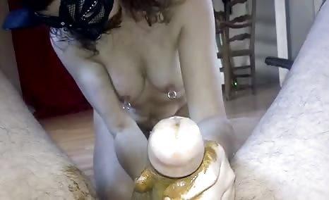 Sucking a dirty cock