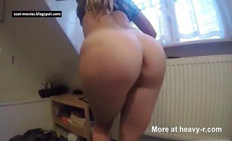 Splendid girl reveals a big turd
