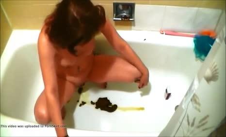 Shitting in bathtub