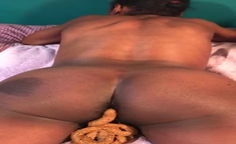 Black girl pooping