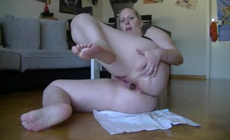 Hot wife spreads legs wide opened