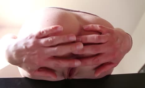 Fingering pussy and ass before pooping